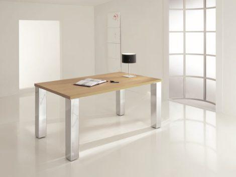 Négyszögletes asztalláb acél profilból, 80*80 mm