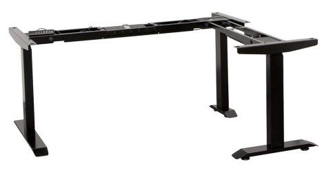 Elektromosan állítható magasságú asztalláb garnitúra L alakú asztalhoz