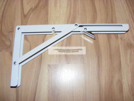 Lehajtható fali konzol 300*160 mm fehér