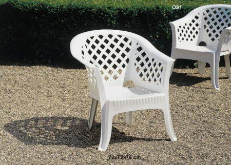 Lario műanyag kerti fotel