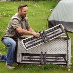 Összecsukható camping asztal 2 db paddal